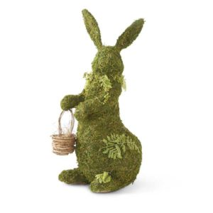 Great-Finds-Parker-Products-K&K Interiors-23-inch-standing-mossy-twig-bunny-w-floral-twig-collar-and-basket