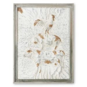 Great-Finds-Parker-Products-K&K Interiors-36-inch-whitewashed-pressed-tin-farm-animal-wall-plaque