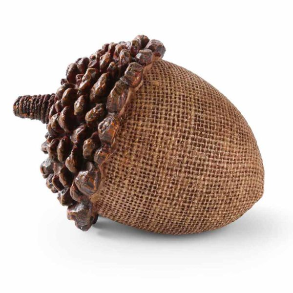 Great-Finds-Parker-Products-K&K Interiors-4-5-inch-light-brown-resin-acorn-with-pinecone-top