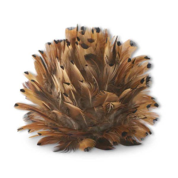 Great-Finds-Parker-Products-K&K Interiors-6-inch-rust-brown-feather-ball-w-hanger