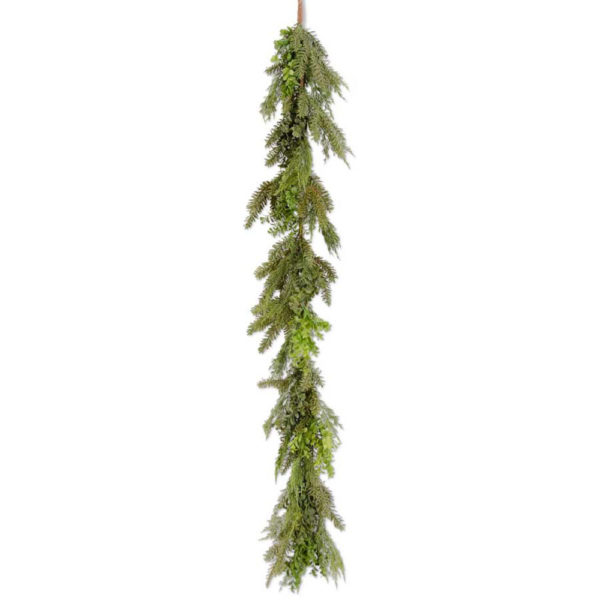 Great-Finds-Parker-Products-K&K Interiors-72-inch-real-touch-boxwood-and-mixed-pine-garland