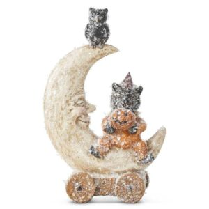 Great-Finds-Parker-Products-K&K Interiors-8-inch-glittered-halloween-cat-on-moon