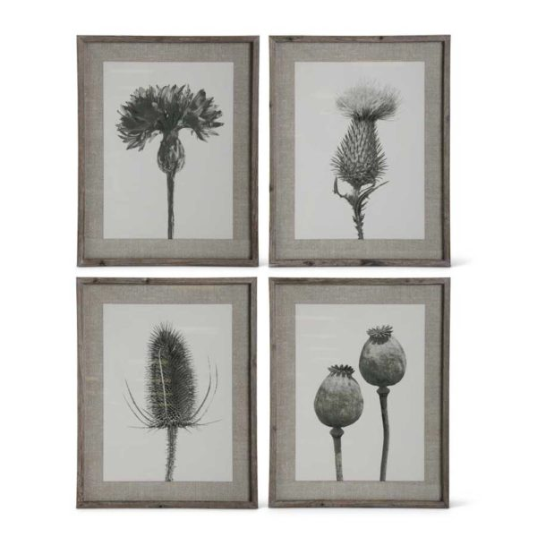 Great-Finds-Parker-Products-K&K Interiors-assorted-27-5-inch-wood-framed-black-gray-and-white-floral-stem-print