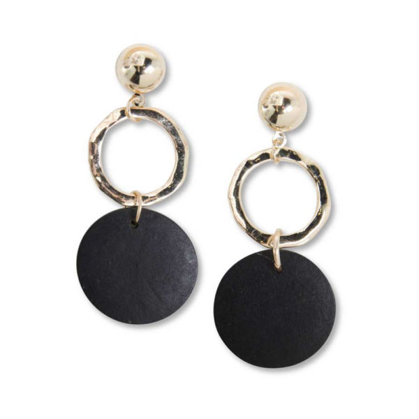 Great-Finds-Parker-Products-K&K Interiors-black-and-gold-drop-earring
