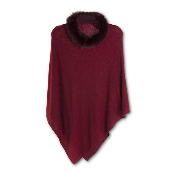 Great-Finds-Parker-Products-K&K Interiors-burgundy-poncho-w-burgundy-fur-collar