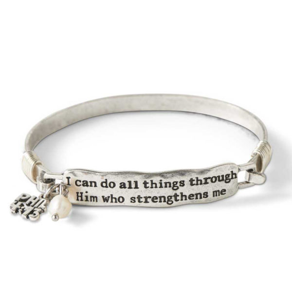 Great-Finds-Parker-Products-K&K Interiors-burnished-silver-i-can-do-all-things-hook-bangle-bracelet