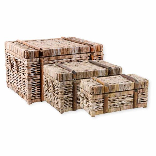 Great-Finds-Parker-Products-K&K Interiors-set-of-3-woven-rattan-nested-trunks-grad-sizes