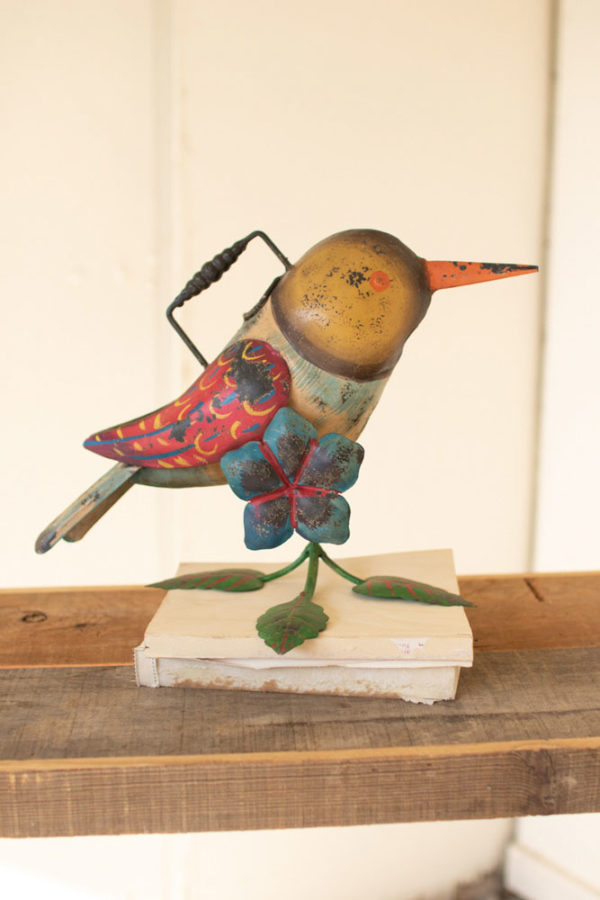 Great-Finds-Parker-Products-Kalalou-painted-iron-hummingbird-watering-can