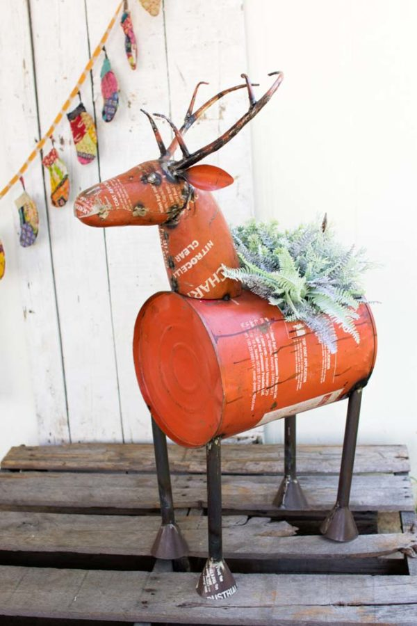 Great-Finds-Parker-Products-Kalalou-red-reclaimed-metal-barrel-deer-planter-cooler