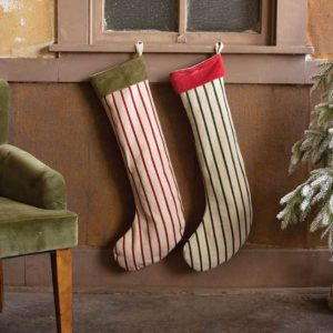 Great-Finds-Parker-Products-Kalalou-set-of-2-giant-striped-christmas-stockings-with-velvet-collar