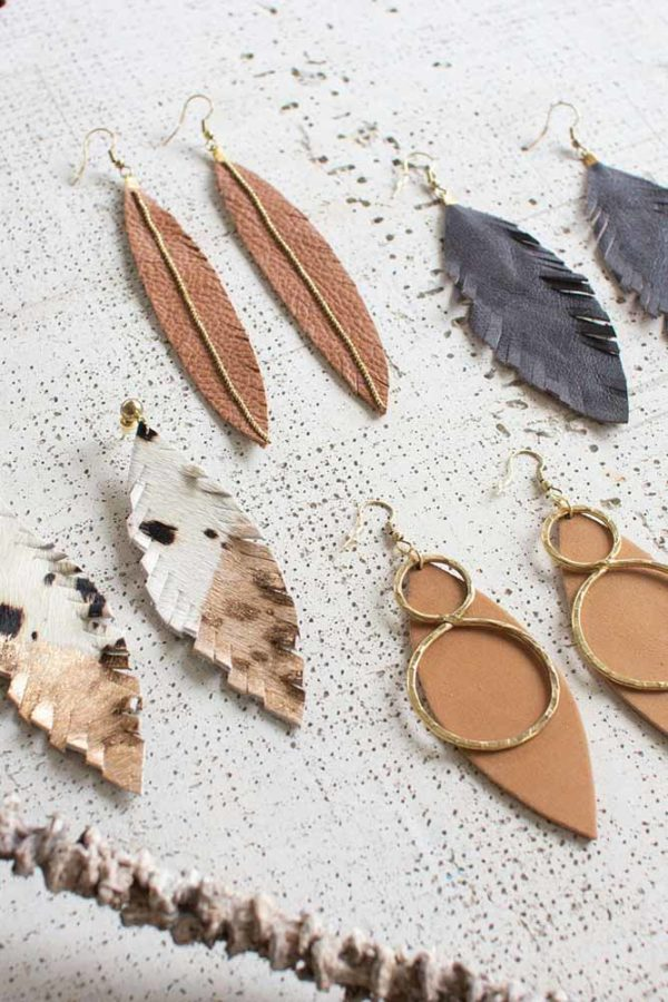 Great-Finds-Parker-Products-Kalalou-set-of-4-leaf-designs-earrings