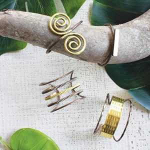 Great-Finds-Parker-Products-Kalalou-set-of-4-metal-cuff-bracelets