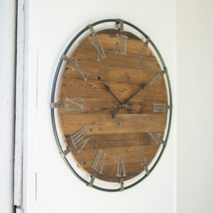 Great-Finds-Parker-Products-Kalalou-wooden-wall-clock-with-metal-frame